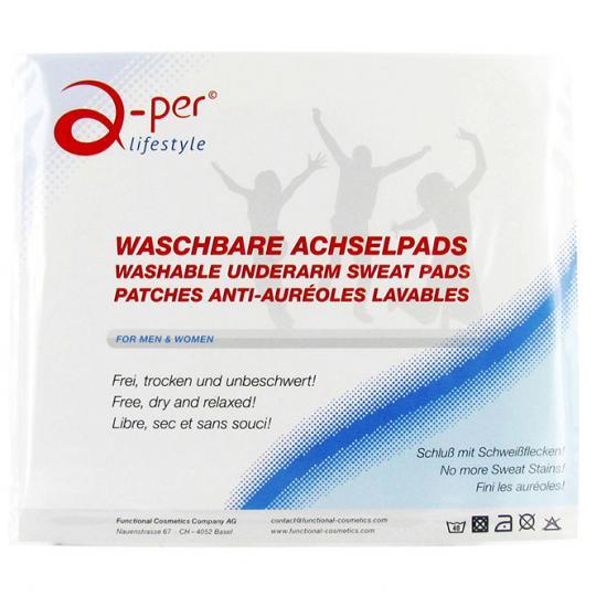 Patches anti-auréoles lavables a-per© blanc contre les tâches de sueur