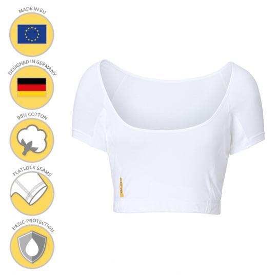 Femme-U-bustier-shirt MANJANA® avec protection anti-auréoles integrée