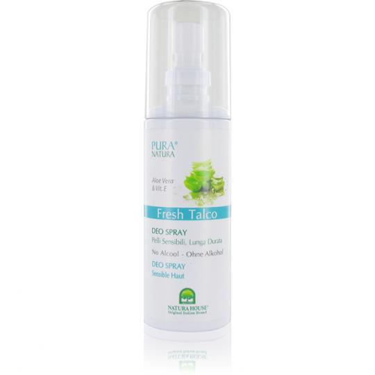 Déo en spray Fresh Talco Pura Natura anti-odeur ingrédients végétaux