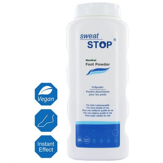 SweatStop® Menthol poudre pour les pieds avec du menthol