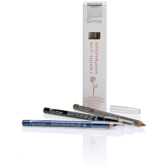 Eyeliner 3 Crayons Galenia Skin Care® pointe de stylo hypoallergénique