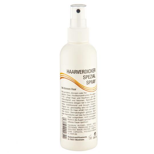 Spray spécial volumateur Badestrand pour plus de volume avec les cheveux fins, cassants et volants
