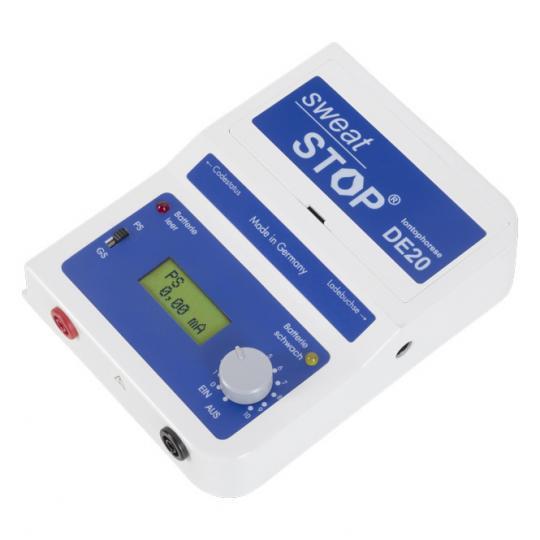 SweatStop® Ionophorèse DE20 appareil de traitement de l'hyperhidrose