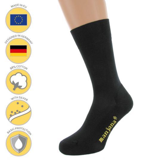 Chaussettes de fonction MANJANA® avec argent contre pieds moites