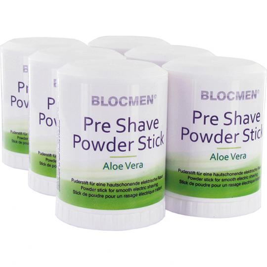 Stick de poudre avant-rasage BLOCMEN© Aloe Vera 6 pcs