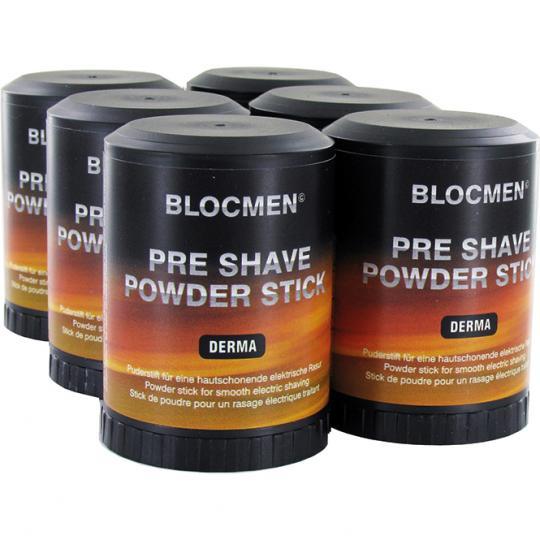 Stick de poudre avant-rasage BLOCMEN© Derma sans parfum - 6 pcs