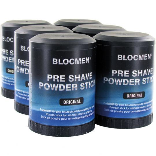 Stick de poudre avant-rasage BLOCMEN© Original avec menthol - 6 pcs