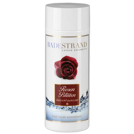 Lotion visage aux pétales de rose Badestand clarifie et prépare la peau optimalement pour d'autres soins