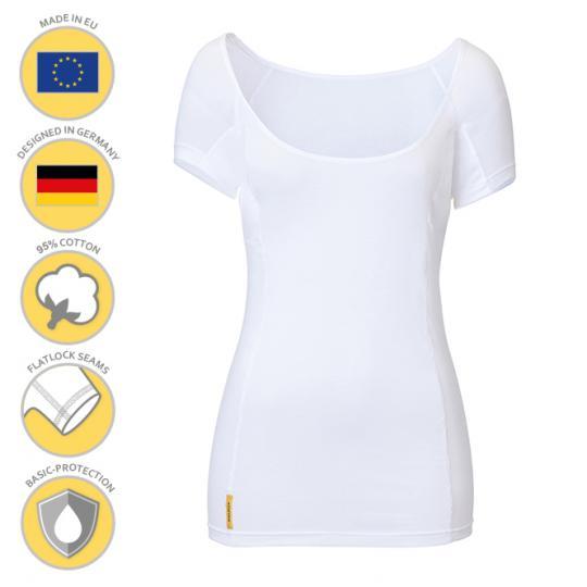Femme-U-modern-shirt MANJANA® avec protection anti-auréoles integrée